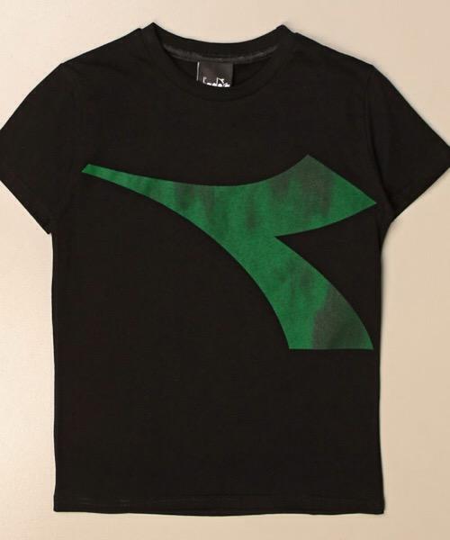 DIADORA  T-Shirt girocollo maxi logo in contrasto