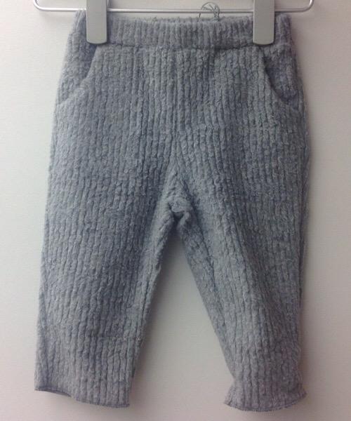 Pantalone a coste grigio misto cotone Frugoo