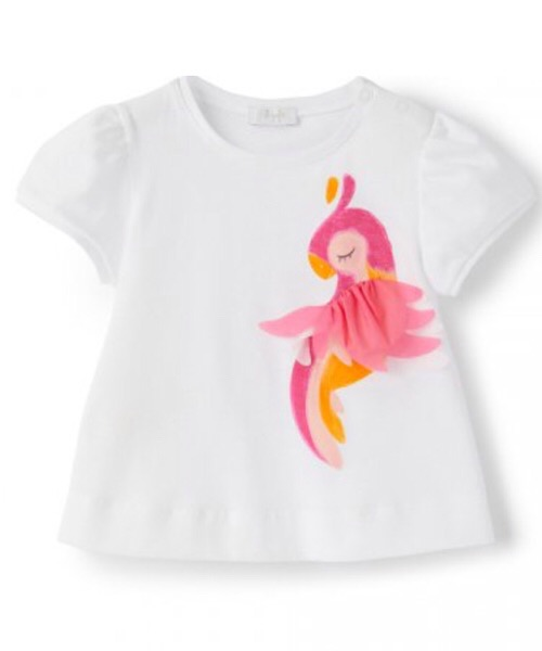 T-Shirt manica corta stampa pappagallo Il Gufo
