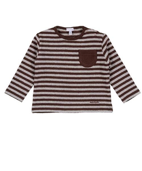 T-Shirt Rigata Con Taschino 'Gufetto' Nanan