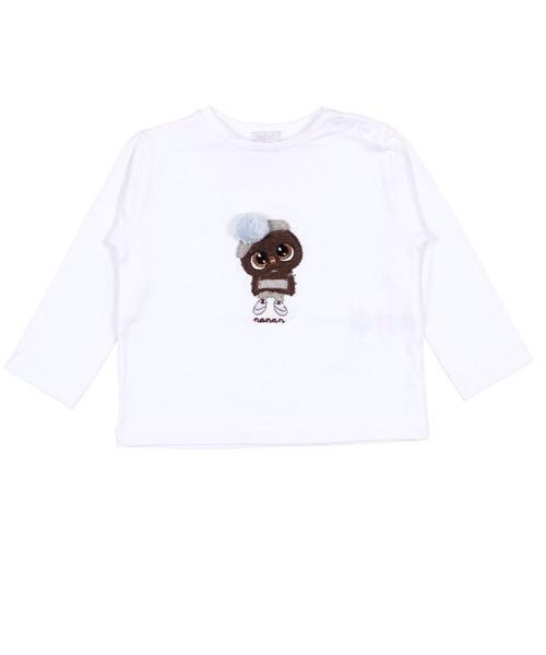 T-Shirt Bianca 'Gufetto' Nanan