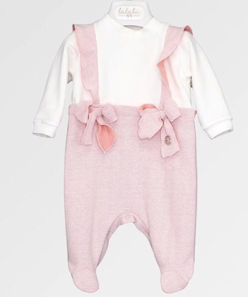 Tutina femminuccia LALALÙ in felpa e maglia spigata
