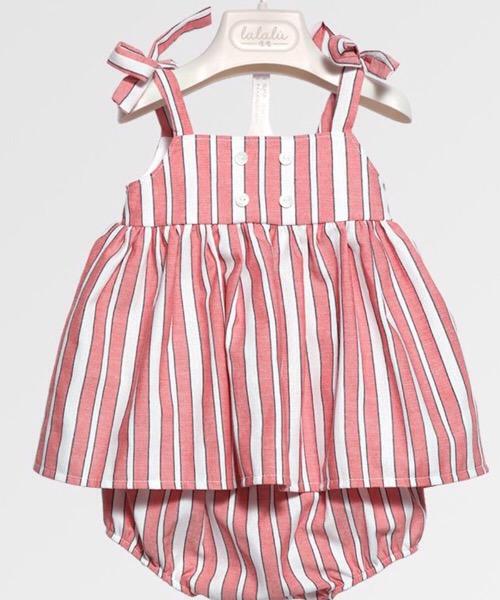 Completo 2 pezzi neonata LALALÙ con culotte