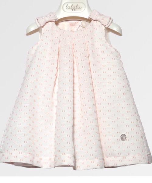 Vestito elegante neonata LALALÙ plumetì