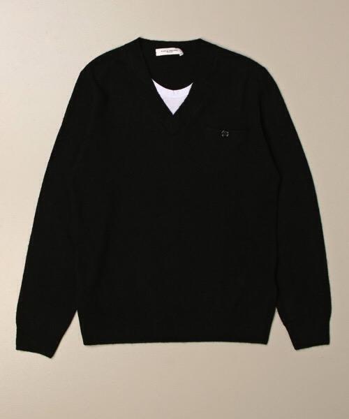 maglione girocollo con taschino e bottone  Paolo Pecora
