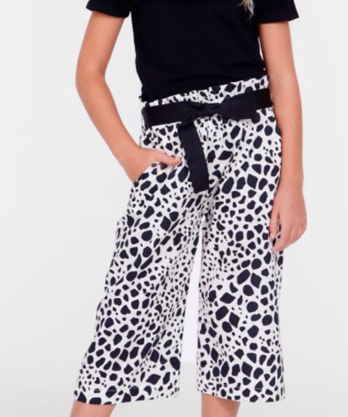 Pantaloni cropped a fantasia bicolor Please
