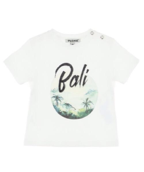 T-shirt baby con stampa e scritta Bali Please