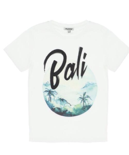 T-shirt boy con stampa e scritta Bali Please