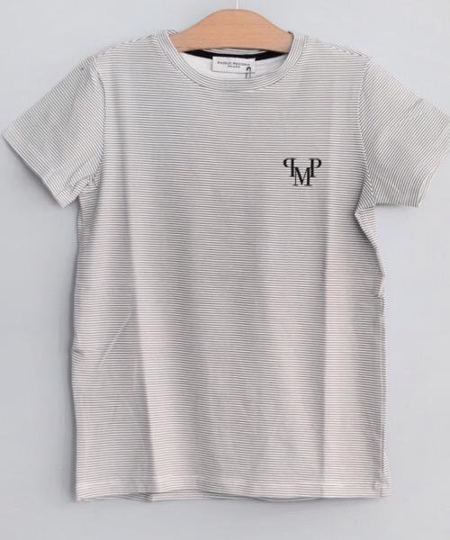 Paolo Pecora-t-shirt-bambino a righe bicolore