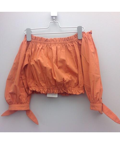 Top arancio collo archetta Twin-Set