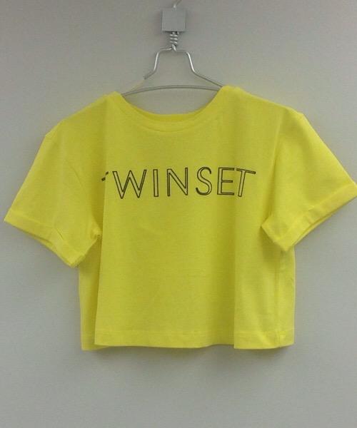 T-shirt con logo collo archetta Twin-Set