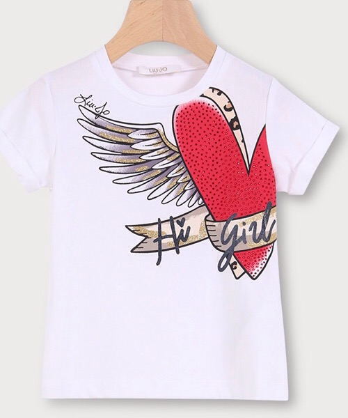 LIu Jo T-shirt con stampa e strass